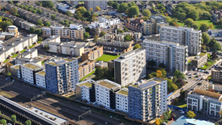South Kilburn from the air 319px by 180px